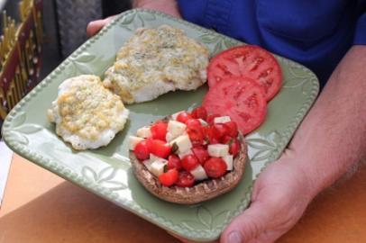 Grilled Mushroom Mozzarella Salad