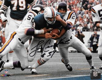 SB VIII MVP Larry Csonka Autographed 8×10 NFL Licensed Action Shot