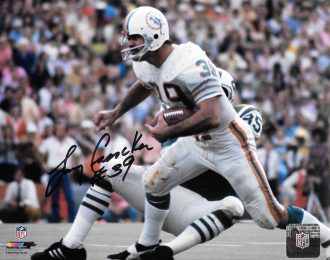 Dolphins at Jets Larry Csonka Autographed 8×10 NFL Licensed Action Shot
