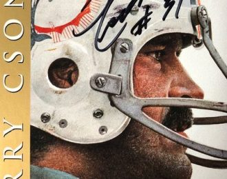 Official NFL Licensed Autographed Football Hall of Fame Card – Gold Edition